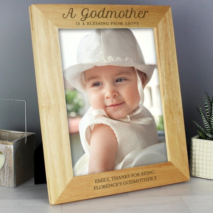 Godmother 8x10 Wooden Photo Frame