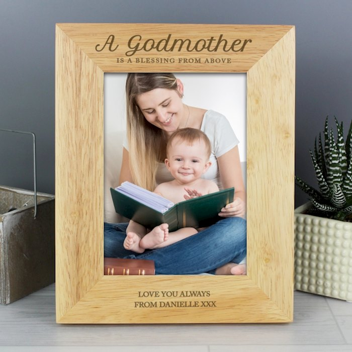 Godmother Wooden 5x7 Photo Frame
