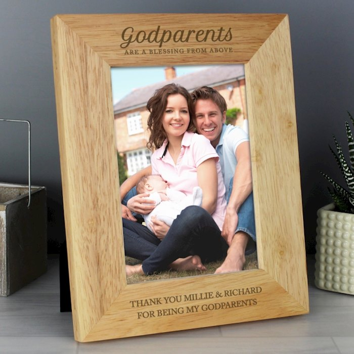 Godparents 5x7 Wooden Photo Frame