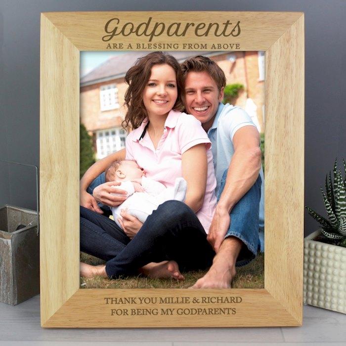 Godparents Wooden 8x10 Photo Frame