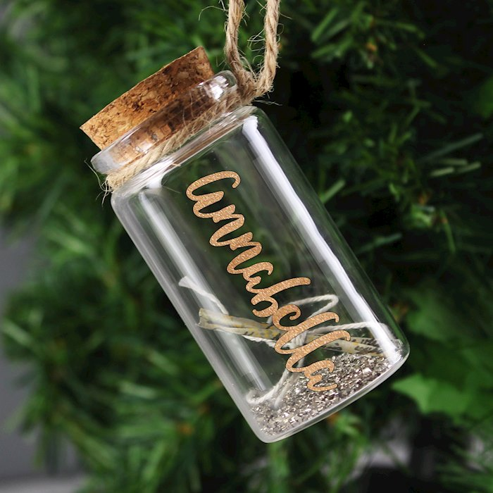 Gold Any Name Message in a Bottle