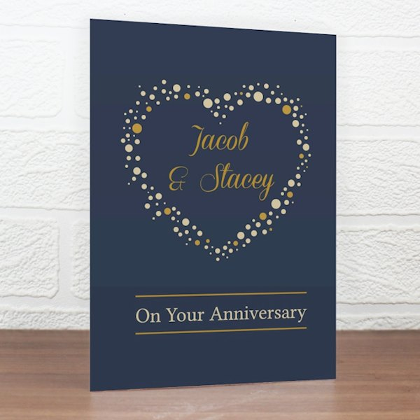 Gold Confetti Heart Card