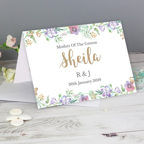 Gold Floral Watercolour Card