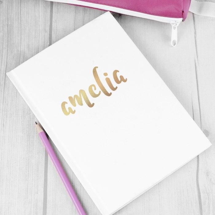 Gold Name Hardback A5 Notebook