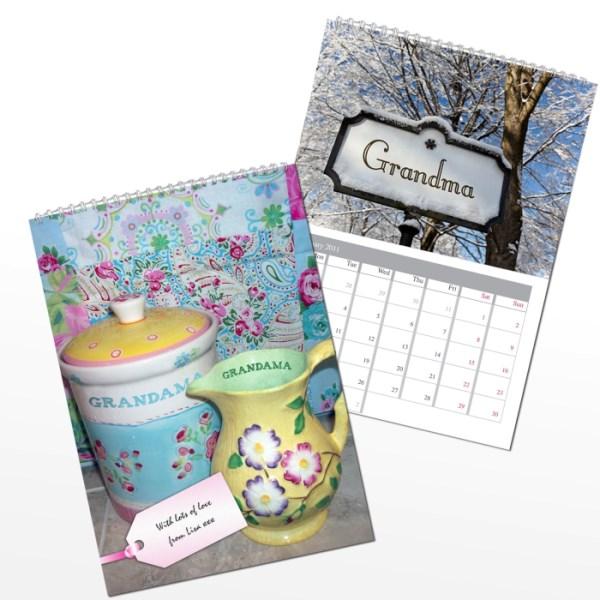 Personalised Grandma A4 Wall Calendar