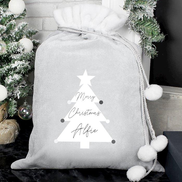 Grey Christmas Tree Sack