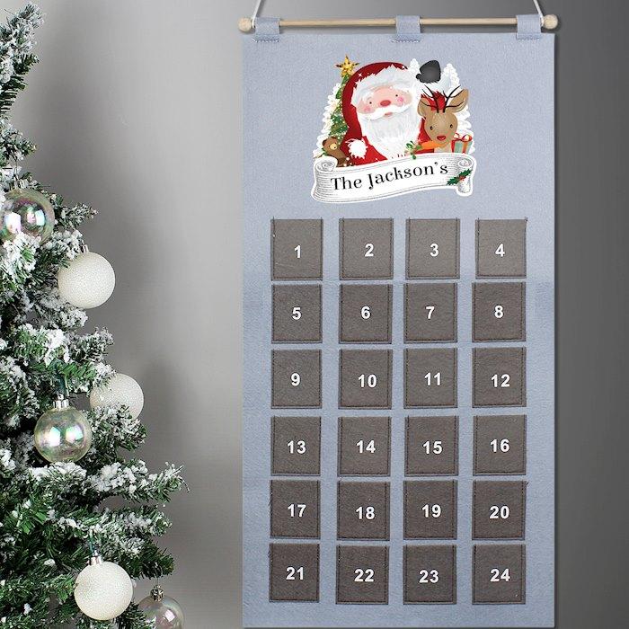 Grey Santa Advent Calendar
