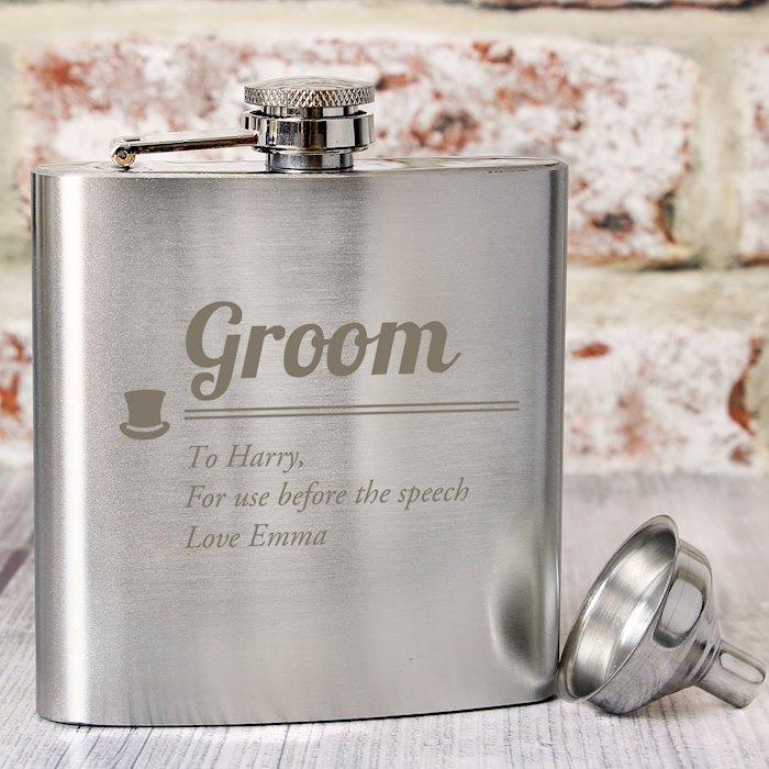Groom Hip Flask