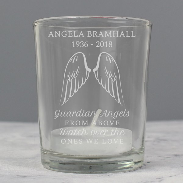 Guardian Angel Wings Votive Candle Holder
