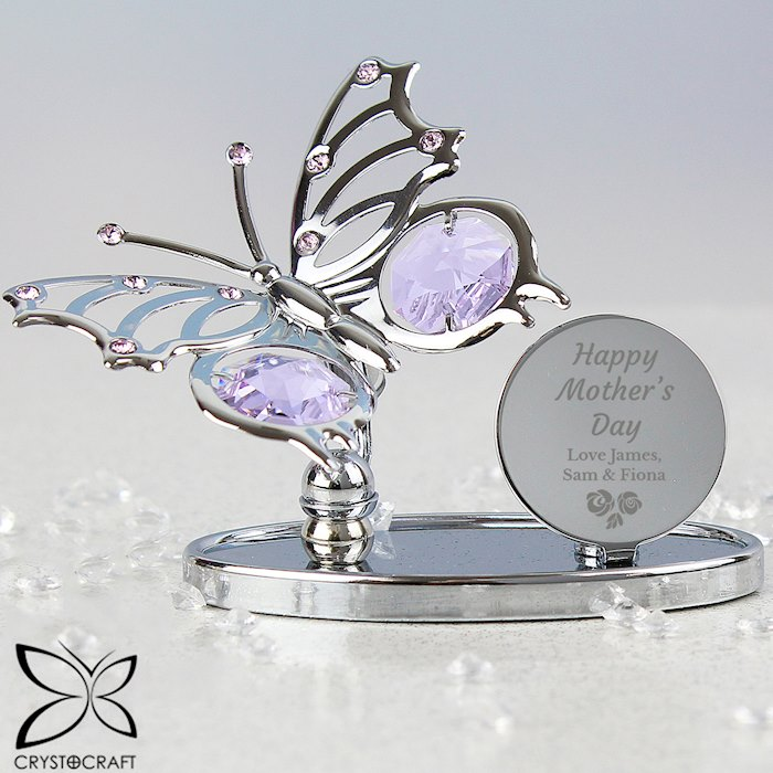 Happy Mother's Day Crystocraft Butterfly