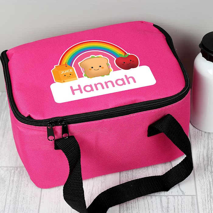 Healthy Eating Pink Lunch Bag