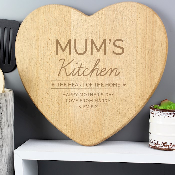 'Heart of The Home' Wooden Chopping board