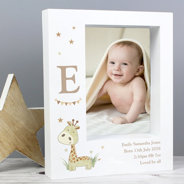 Hessian Giraffe 5x7 Box Photo Frame