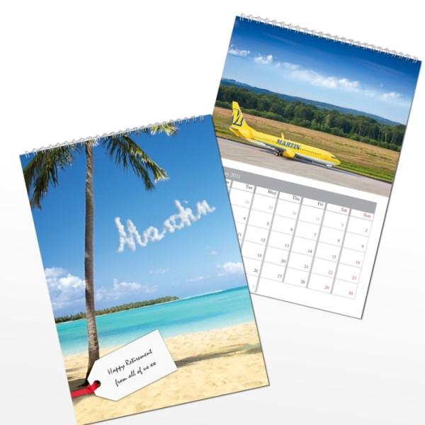 Personalised Holiday A4 Wall Calendar