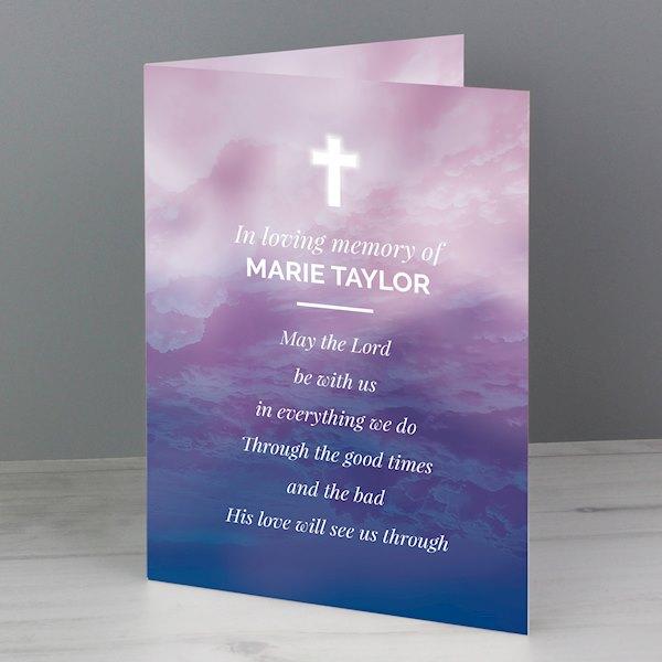 In Loving Memory Cross Card