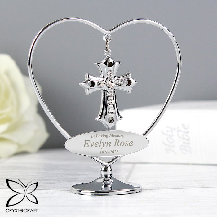 In Loving Memory Crystocraft Cross