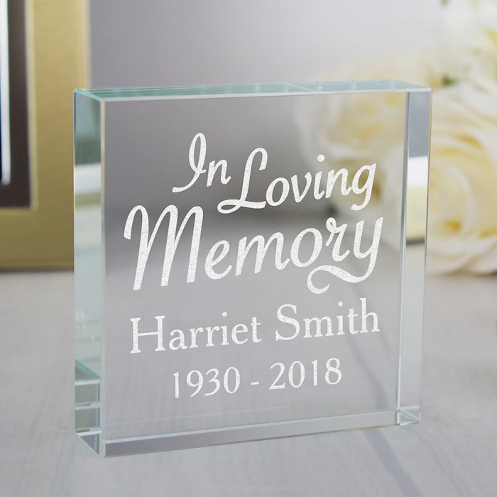 """In Loving Memory"" Large Crystal Token"