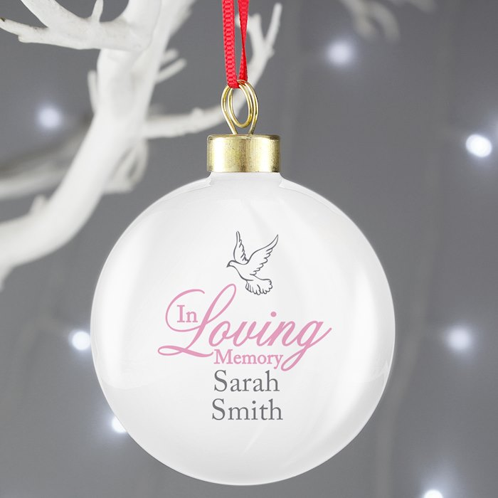 In Loving Memory Pink Bauble