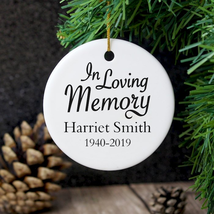 In Loving Memory Round Ceramic Decoration