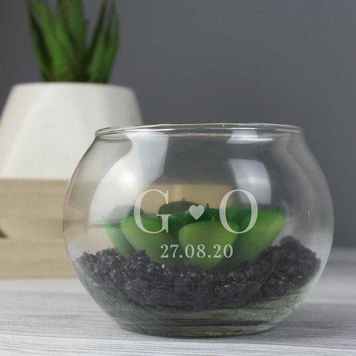 Initials Glass Terrarium