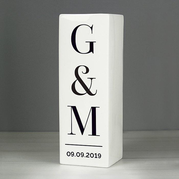 Initials Square Vase