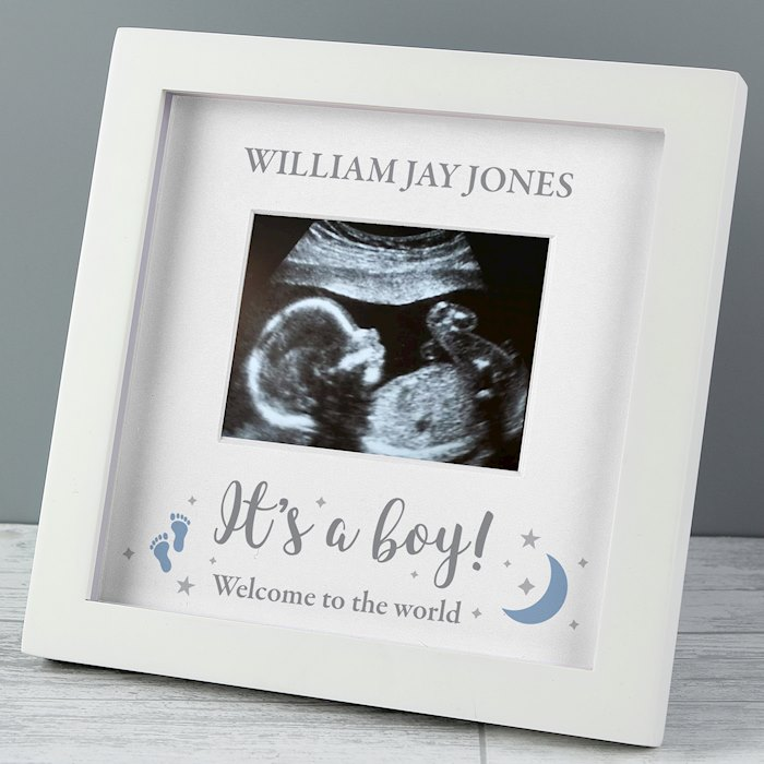 'It's A Boy' 4 x 3 Baby Scan Frame
