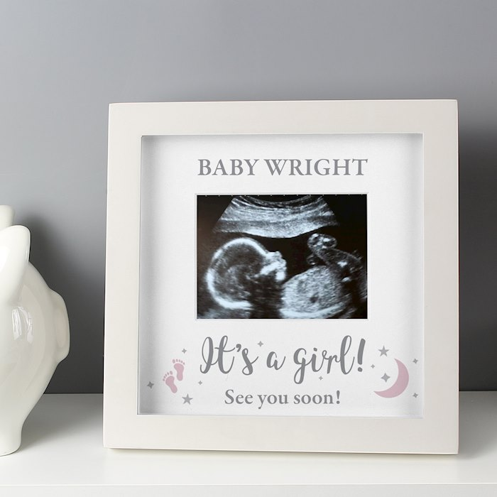 'It's A Girl' 4 x 3 Baby Scan Frame