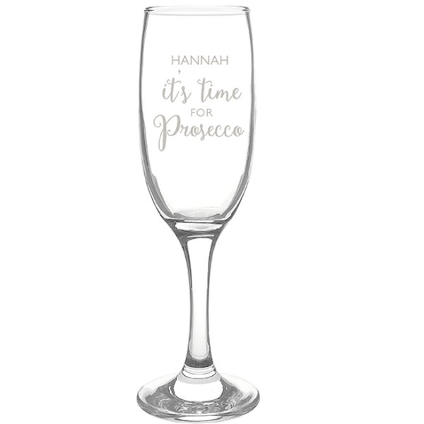 'It's Time for Prosecco' Flute