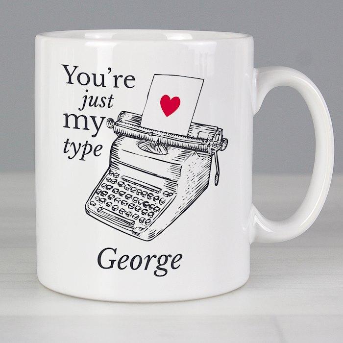 Just My Type Valentines Mug