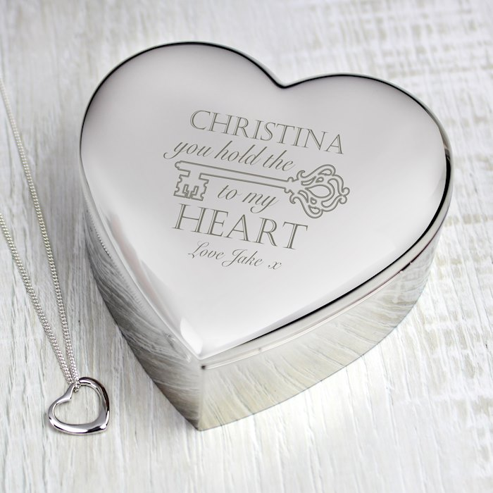Key to My Heart Trinket Box & Necklace Set