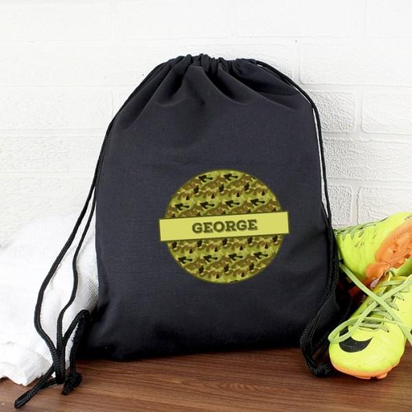 Khaki Camo Black Swim & Kit Bag