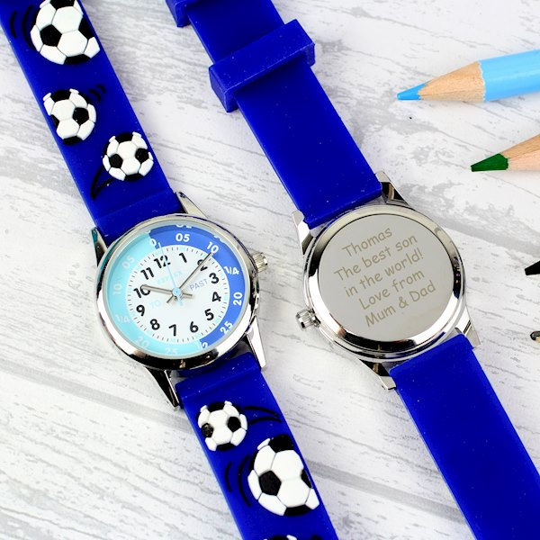 Kid's Blue Time Teacher Watch with Presentation Box