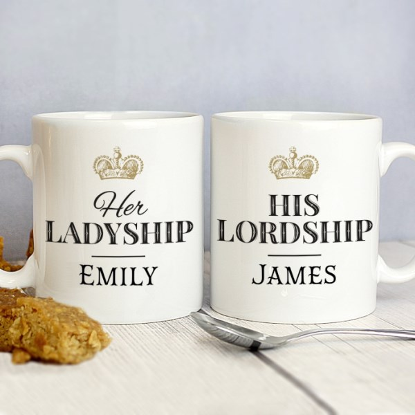 Ladyship and Lordship Mug Set