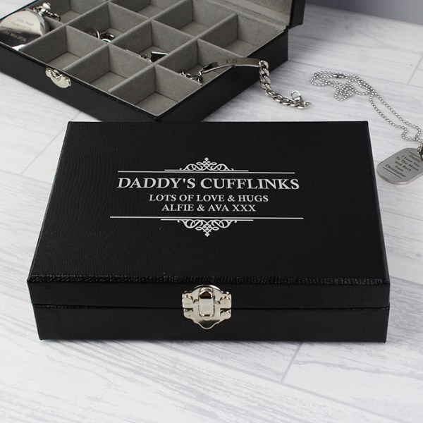 Large Cufflink Compartment Box