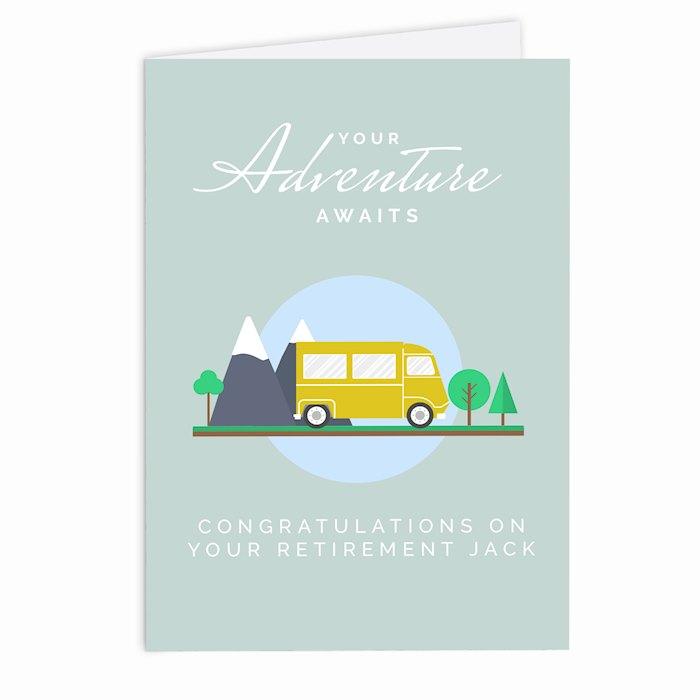Leaving, Retirement, Adventure Card