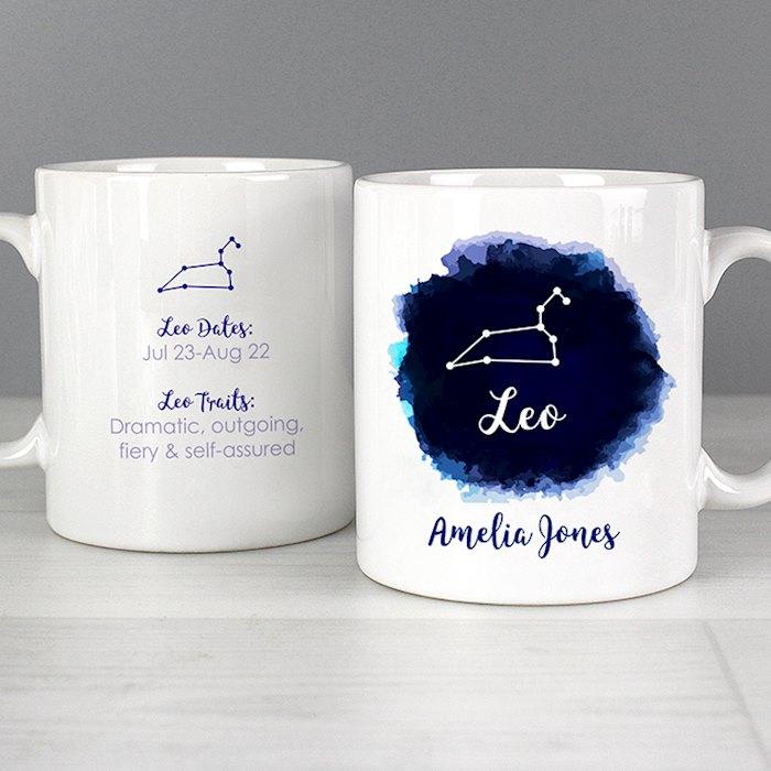 Leo Zodiac Star Sign Mug (July 23rd - August 22nd)