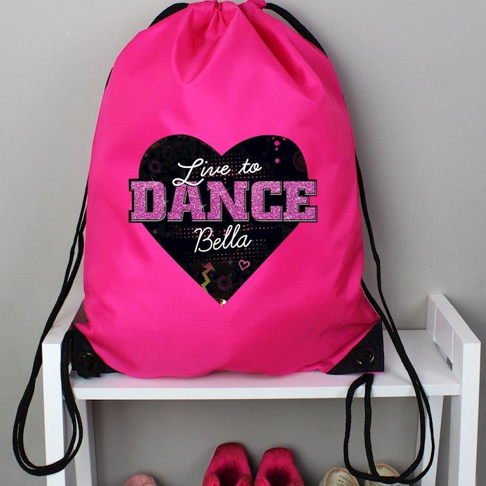 'Live to Dance' Pink Kit Bag