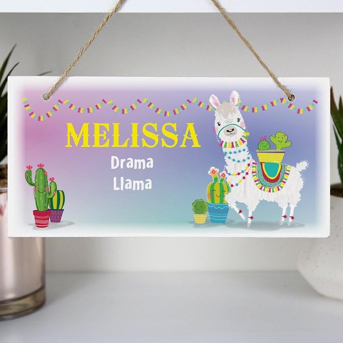 Llama Wooden Sign