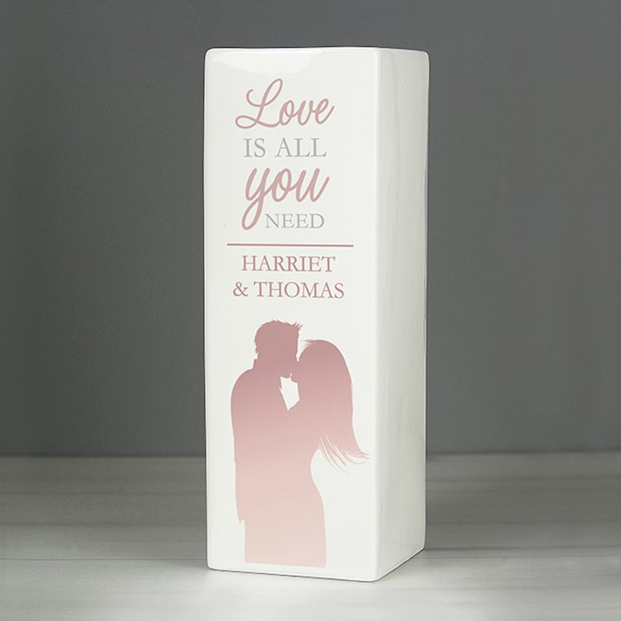 'Love is All You Need' Square Vase