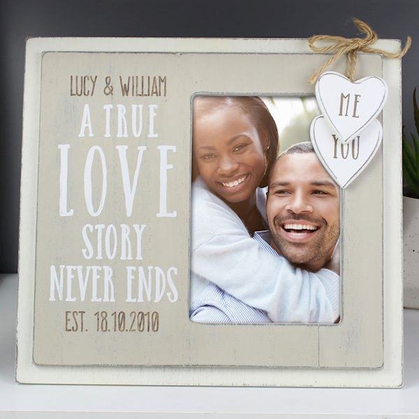 Love Story 4x6 Wooden Photo Frame