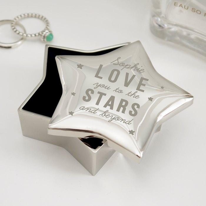 Love You To The Stars Star Trinket Box