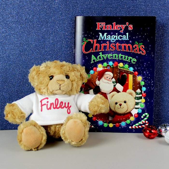 Magical Christmas Adventure Story Book and Personalised Bear