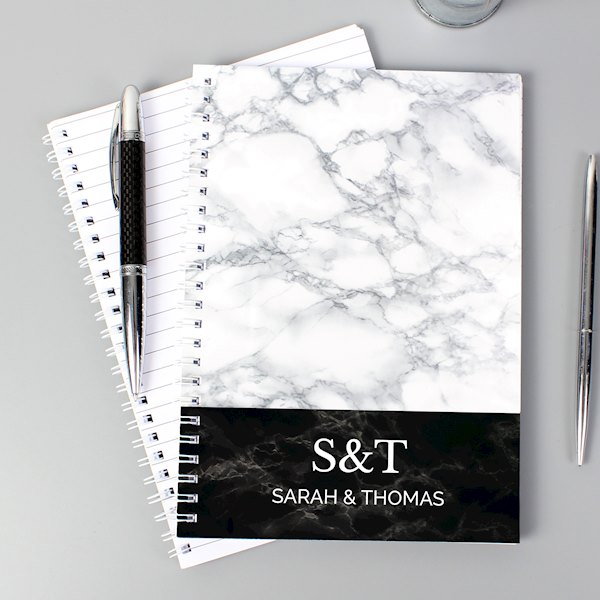 Marble Effect A5 Notebook
