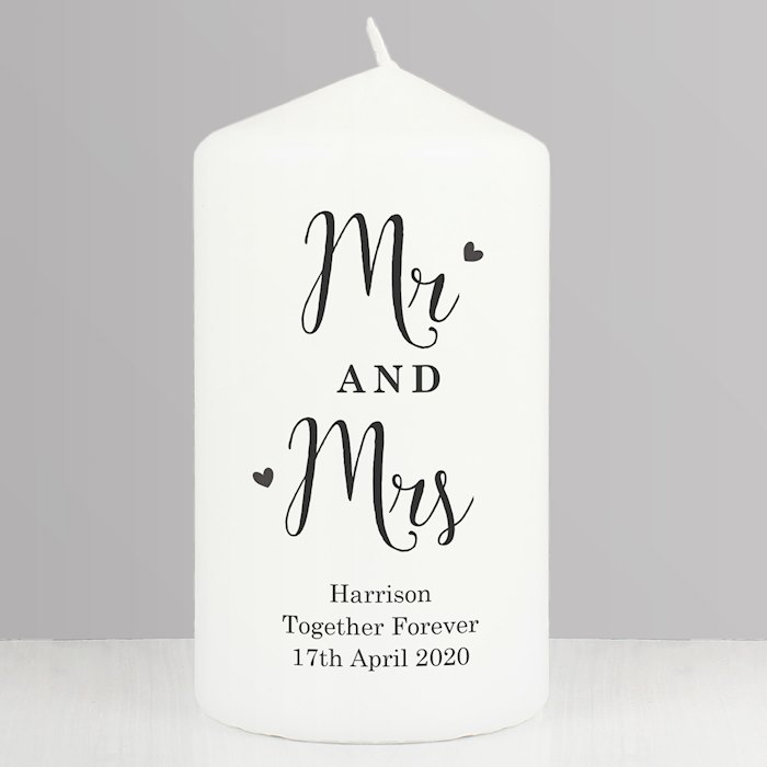 Married Couple Pillar Candle
