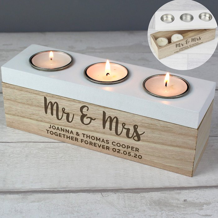 Married Couple Triple Tea Light Box