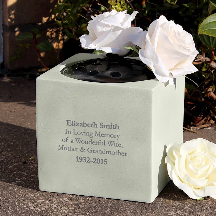 Personalised Memorial Vase Specialmoment Co Uk