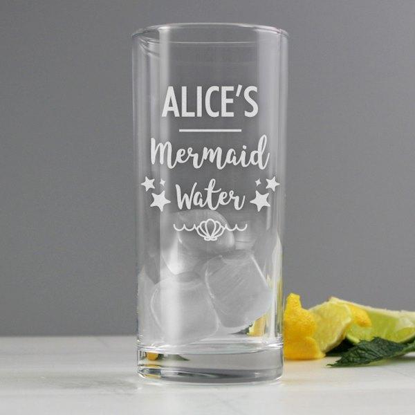 Mermaid Water Hi Ball Glass