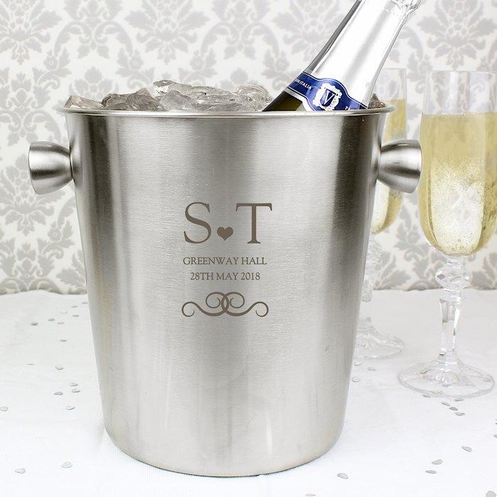 Monogram Stainless Steel Ice Bucket