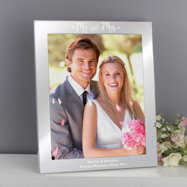Mr & Mrs Silver 8x10 Photo Frame