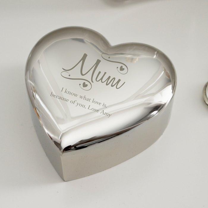 Mum Swirls & Hearts Trinket Box